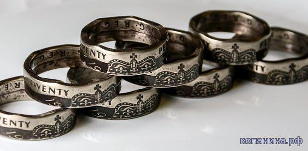 Сделать кольцо из монеты самому своими руками