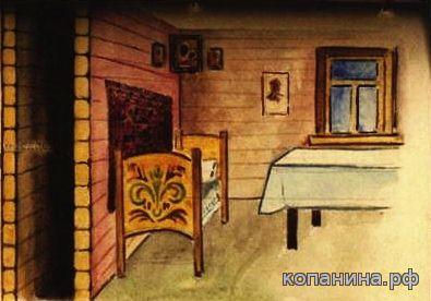 Схрон тайник УПА - двойная стена в бревенчатом доме