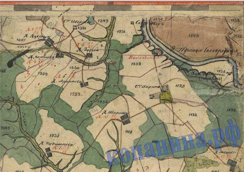 Pa stare: древняя карта тверской губернии.
