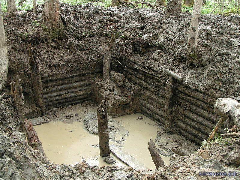 раскопанный немецкий блиндаж