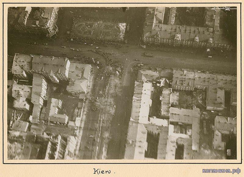 Немецкая эрофотосъемка Киева 1918 год
