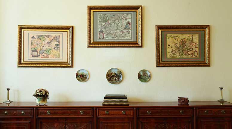 средневековые старые карты на стену