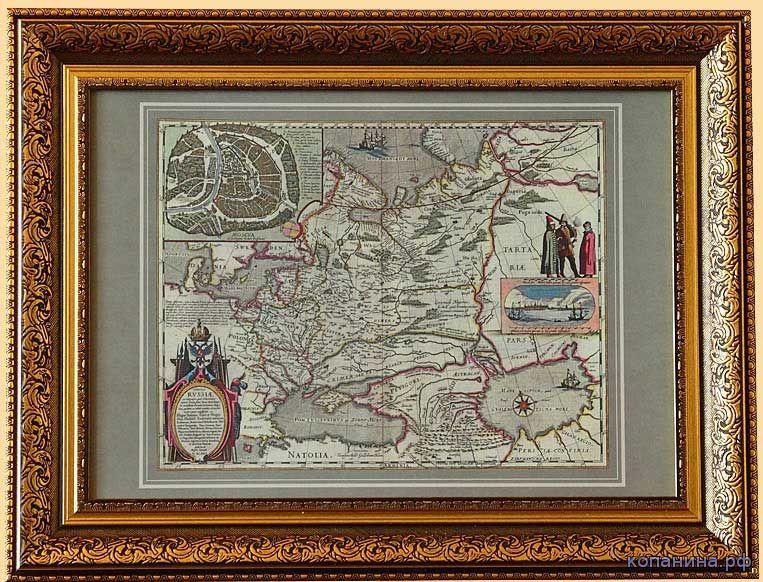 антикварная карта российской империи