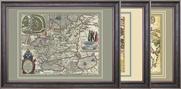 интерьерные древние карты на стену - акция