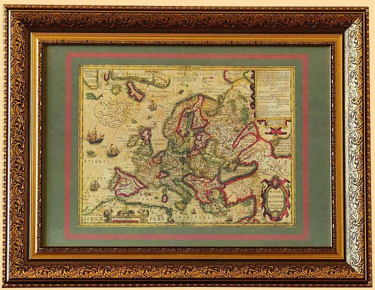антикварные географические карты - Новая Европа