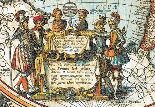 большая старинная карта мира