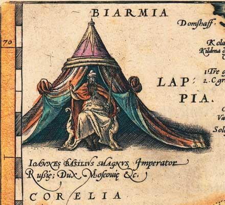 Старая карта Тартарии России Московии на стену