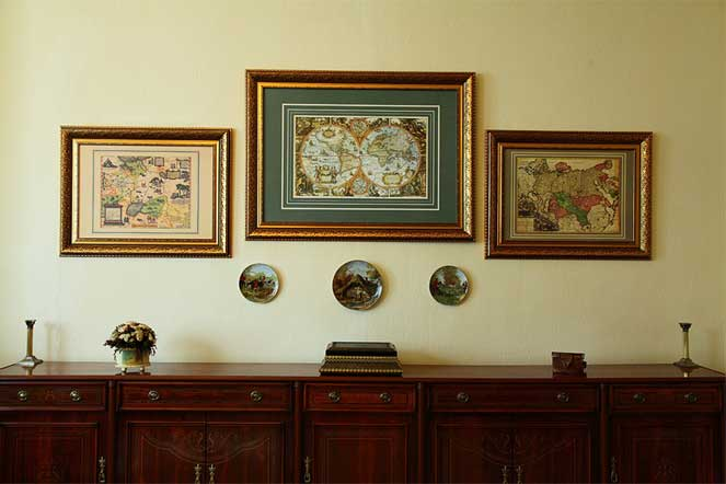 старые карты на стену - интерьерные древние карты