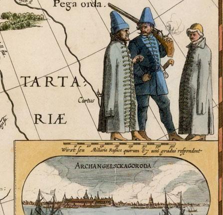 Древняя карта России Тартарии